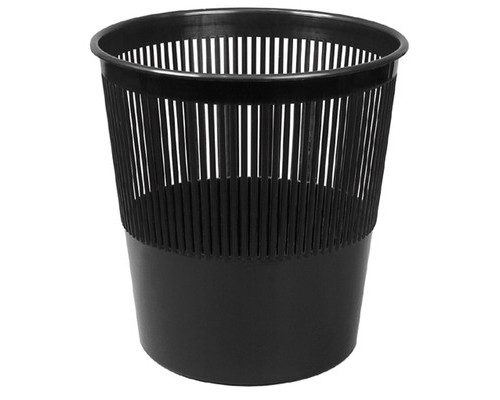 Корзина для мусора Attache 10 л пластиковая черная - (1835К)