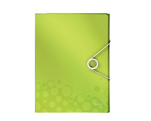 Папка органайзер Leitz WOW А4 до 160 листов зеленая 4 отделения - (622560К)