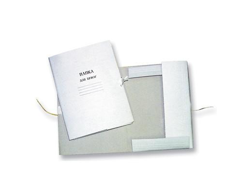 Папка для бумаг с завязками 220 г/кв.м немелованная - (201996К)