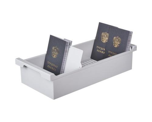 Картотека для карточек Exacompta А6 на 1200 карточек 347x166x79 мм открытая - (376584К)