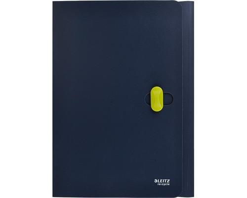 Папка-короб с застежкой Leitz ReCycle А4 пластиковая синяя 0.65 мм до 150 листов - (204870К)
