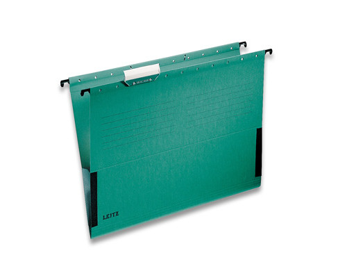 Подвесная папка Leitz А4 до 20 листов зеленая - (48688К)