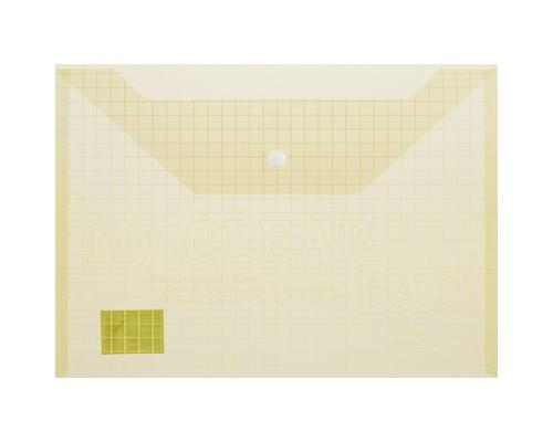Папка-конверт My clear bag на кнопке А4 желтая 0.15 мм - (327143К)
