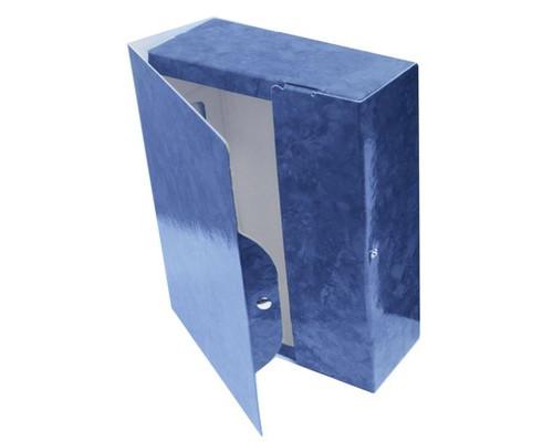 Папка архивная Attache на кнопке 150 мм синий мрамор ламинированный картон - (478254К)