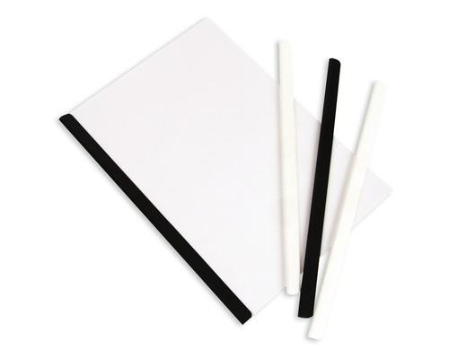 Скрепкошина для брошюровки Bantex А4 белая до 50 листов - (51183К)