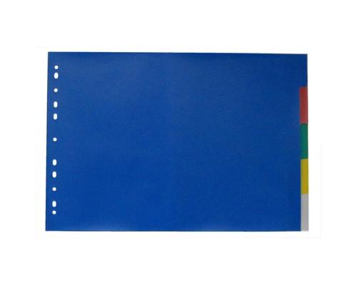Разделитель листов Attache А3 пластиковый 5 листов цветной 290х420 мм - (390820К)