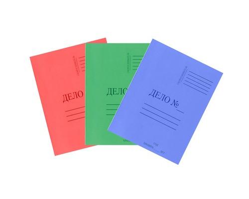 Папка-скоросшиватель Дело № картонная А4 до 150 листов в ассортименте 300 г/кв.м - (113951К)