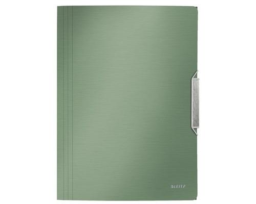 Папка на резинках Leitz Style А4 пластиковая малахит 0.045 мм до 150 листов - (488268К)