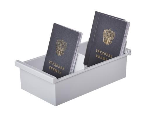 Картотека для карточек Exacompta А7 на 600 карточек 225x123x65 мм открытая - (376585К)