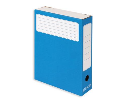 Короб архивный Attache микрогофрокартон синий 252х75х322 мм - (26075К)