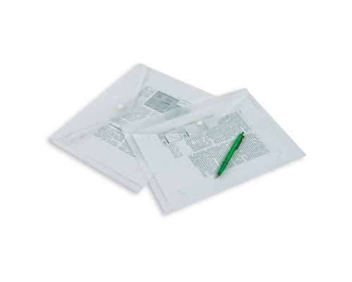 Папка-конверт на кнопке А4 матовая прозрачная 0.18 мм - (50505К)