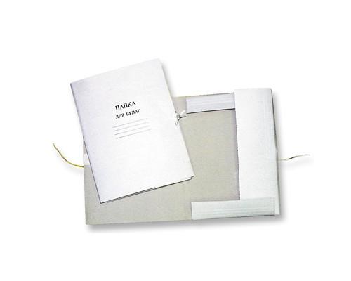 Папка для бумаг с завязками 260 г/кв.м немелованный картон - (1957К)
