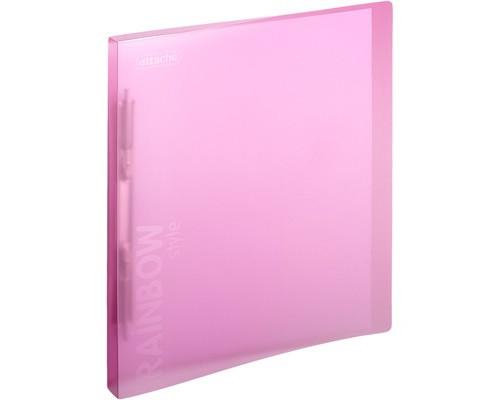 Папка-скоросшиватель с пружинным механизмом Attache Rainbow Style пластиковая А4 розовая 0.45 мм до 150 листов - (488261К)