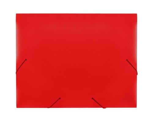Папка на резинках Attache А4 пластиковая красная 0.6 мм до 200 листов - (34484К)