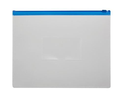 Папка-конверт Attache на молнии А4+ синяя 0.16 мм - (3635К)