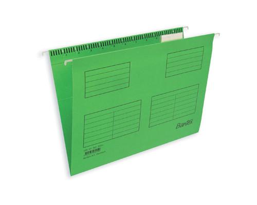 Подвесная папка Bantex А4 до 250 листов салатовая 25 штук в упаковке - (87117К)