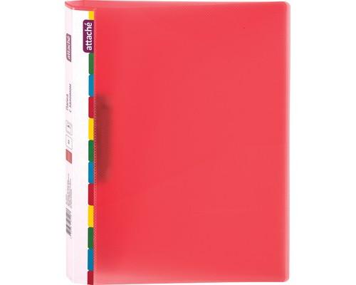Папка с зажимом Attache Diagonal А4 0.6 мм красная до 150 листов - (391372К)