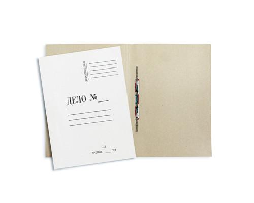 Папка-скоросшиватель Дело № картонная А4 до 100 листов белая 360 г/кв.м 20 штук в упаковке - (131080К)