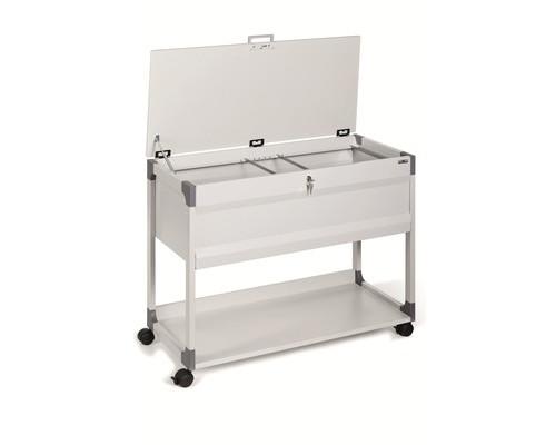 Тележка для подвесных папок Durable Multi top металлическая на 100 папок 897х736х432 мм - (604960К)