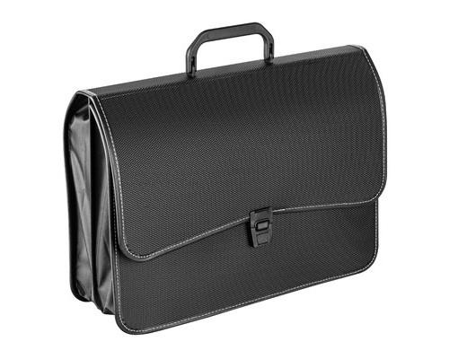 Папка-портфель Attache пластиковая А4+ черная 280x370 мм 2 отделения - (331733К)