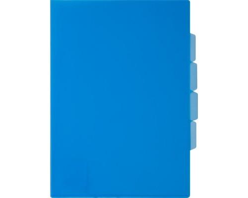 Папка-уголок прозрачный пластик синяя А4 150 мкм 3 отделения - (319778К)