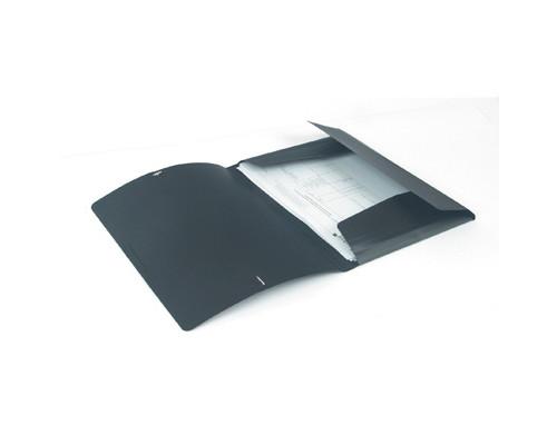 Папка на резинках Attache А4 пластиковая черная 0.45 мм до 200 листов - (112305К)