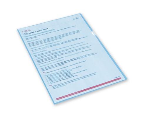 Папка-уголок пластиковая синяя А4 100 мкм 10 штук в упаковке - (495373К)