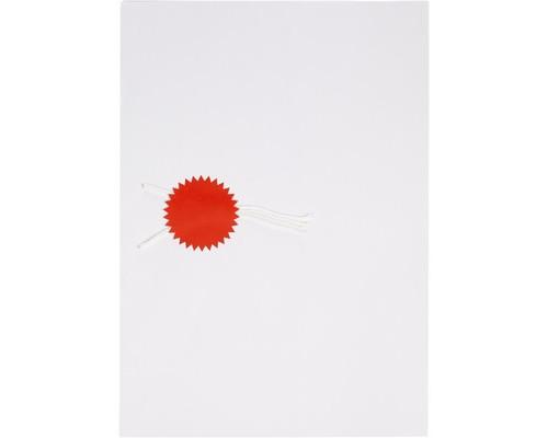 Этикетки самоклеящиеся для опечатывания документов ProMega Звездочки 60 мм красные 15 штук на листе 10 листов в упаковке - (452008К)