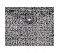 Папка-конверт Attache Confidence на кнопке А4 черно-белая 0.18 мм - (611505К)