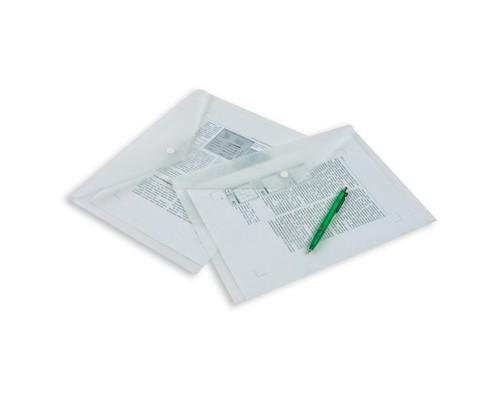 Папка-конверт Attache на кнопке А4 прозрачная 0.18 мм - (49097К)