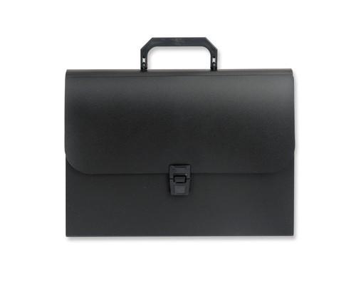 Папка-портфель Attache пластиковая А4 черная 216x303 мм 12 отделений - (50991К)