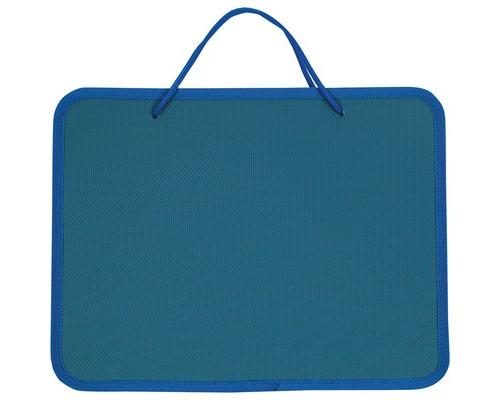 Папка-портфель пластиковая А4 синяя 270x350 мм 1 отделение - (268867К)