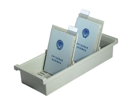 Картотека для трудовых книжек Han А6 на 40 книжек или 1300 карточек 347x128x65 мм открытая - (172110К)