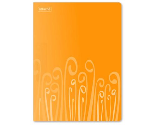 Папка с прижимом Attache Fantasy формат А4 0.5 мм оранжевая до 120 листов - (314652К)