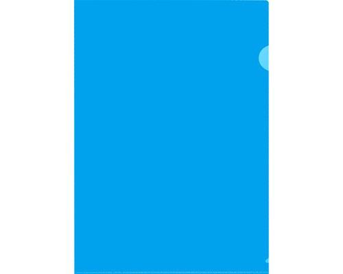 Папка-уголок жесткий пластик синяя А4 120 мкм 20 штук в упаковке - (627963К)