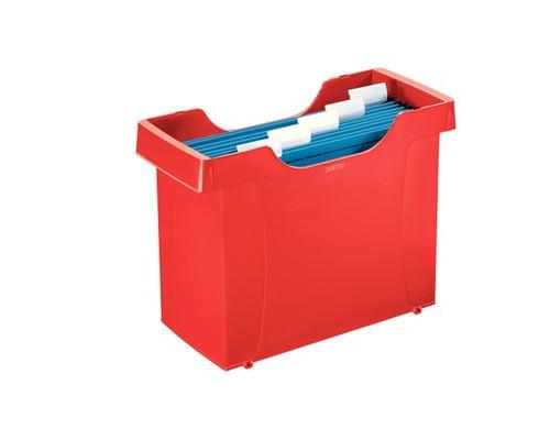 Короб архивный для подвесных папок Leitz Plus А4 пластиковый красный нескладной - (617799К)
