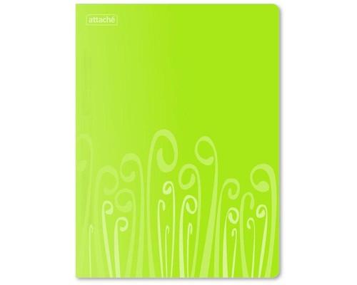 Папка-скоросшиватель с пружинным механизмом Attache Fantasy пластиковая А4 салатовая 0.45 мм до 120 листов - (314658К)
