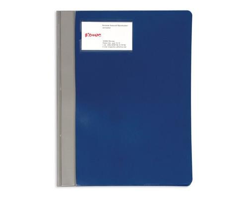 Папка-скоросшиватель Bantex Manager пластиковая A4 синяя 0.25 мм до 100 листов - (43877К)