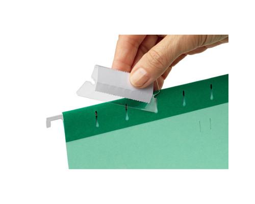 Ярлычки для подвесных папок Esselte пластиковые 50 мм 25 штук в упаковке - (62133К)