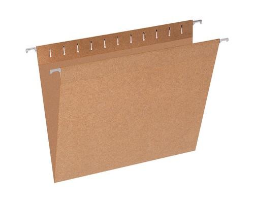 Подвесная регистратура Эконом А4 до 80 листов коричневая 10 штук в упаковке - (327187К)