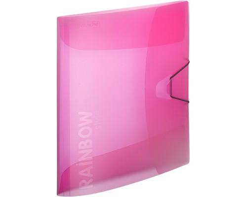 Папка на резинках Attache Rainbow А4 пластиковая розовая 0.45 мм до 200 листов - (488253К)