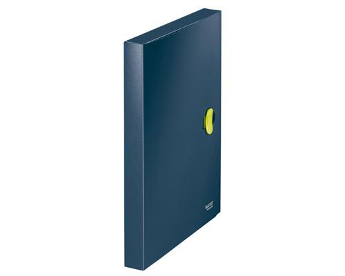 Папка-короб с застежкой Leitz ReCycle А4 пластиковая синяя 0.65 мм до 300 листов - (210674К)