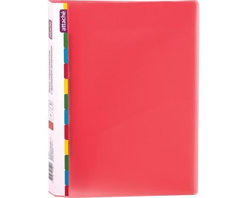 Папка-скоросшиватель с пружинным механизмом Attache Diagonal пластиковая А4 красная 0.6 мм до 150 листов - (391375К)