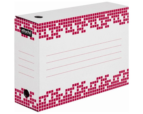 Короб архивный Attache Selection гофрокартон белый 251х102х355 мм - (327663К)