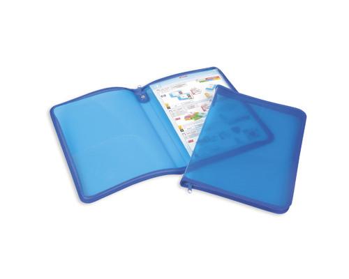 Папка-конверт Attache на молнии А4 синяя 0.5 мм - (49258К)