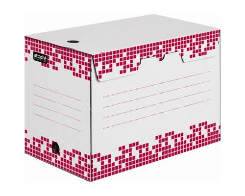 Короб архивный Attache Selection гофрокартон белый 251х202х355 мм - (327665К)