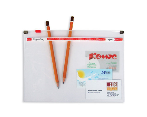 Папка-конверт Zippa-Bag Snopake на молнии А5 прозрачная 0.18 мм - (62072К)
