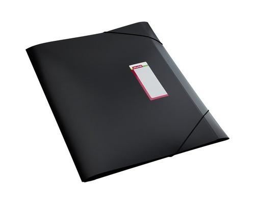 Папка-короб на резинках Attache А3 пластиковая черная 0.8 мм до 300 листов - (166831К)