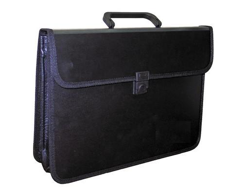Папка-портфель Attache пластиковая А4 черная 370x275 мм 2 отделения - (49261К)