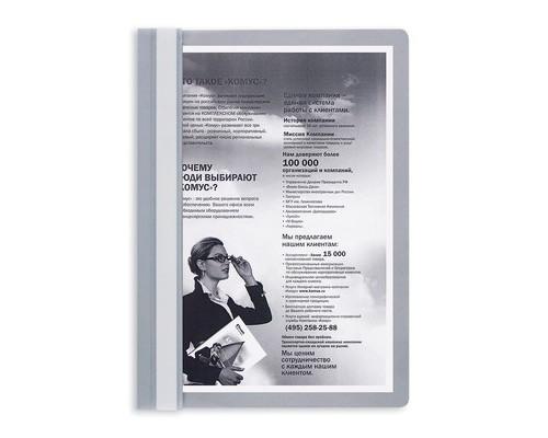 Папка-скоросшиватель Attache прозрачная пластиковая A4 серая 10 штук в упаковке - (495912К)
